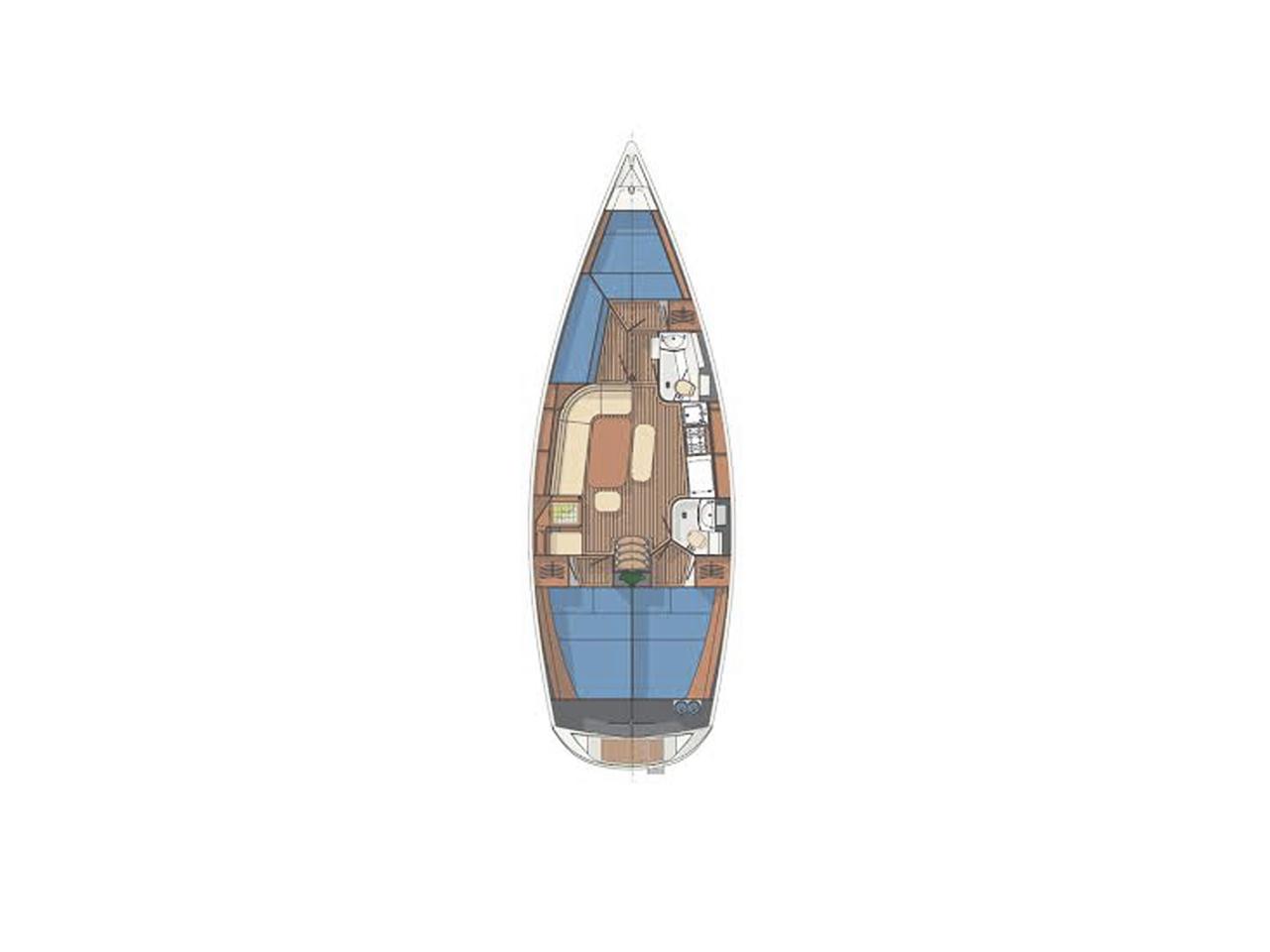 Planimetria - Barca Vela Charter